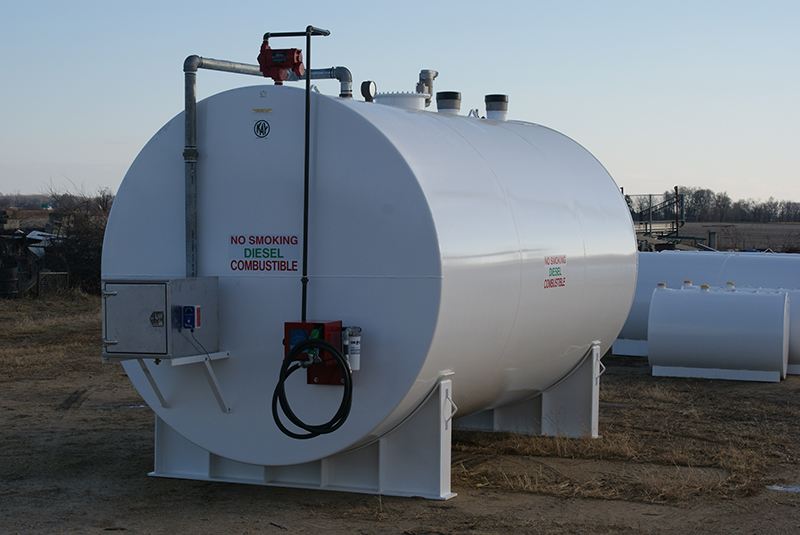 10,000 gallon double wall storage tank with turn key sytem