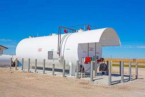 Fuel storage tank with Custom Roof Option